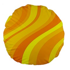 Orange Yellow Background Large 18  Premium Flano Round Cushions