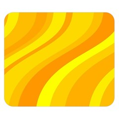 Orange Yellow Background Double Sided Flano Blanket (small)