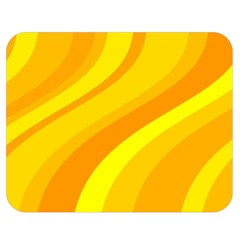 Orange Yellow Background Double Sided Flano Blanket (medium)