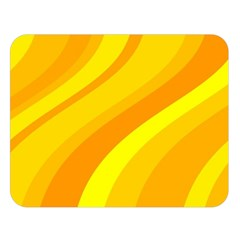 Orange Yellow Background Double Sided Flano Blanket (large)