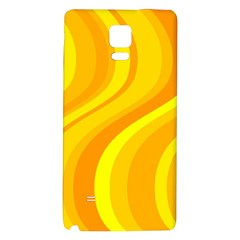 Orange Yellow Background Galaxy Note 4 Back Case