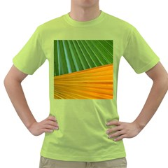 Pattern Colorful Palm Leaves Green T Shirt