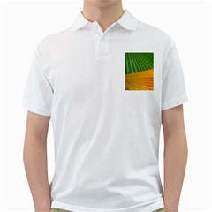 Pattern Colorful Palm Leaves Golf Shirts