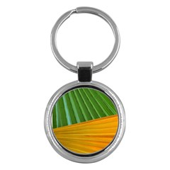 Pattern Colorful Palm Leaves Key Chains (round)