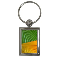 Pattern Colorful Palm Leaves Key Chains (Rectangle)