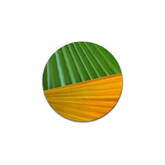 Pattern Colorful Palm Leaves Golf Ball Marker