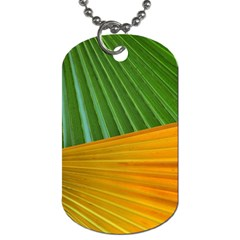 Pattern Colorful Palm Leaves Dog Tag (two Sides)