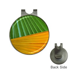 Pattern Colorful Palm Leaves Hat Clips With Golf Markers