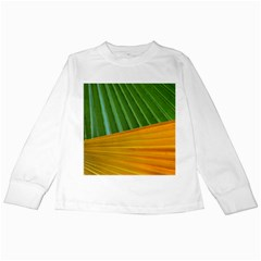 Pattern Colorful Palm Leaves Kids Long Sleeve T Shirts