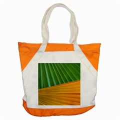 Pattern Colorful Palm Leaves Accent Tote Bag