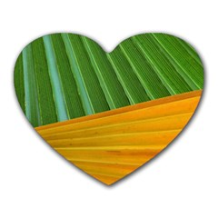 Pattern Colorful Palm Leaves Heart Mousepads