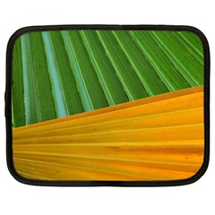 Pattern Colorful Palm Leaves Netbook Case (large)