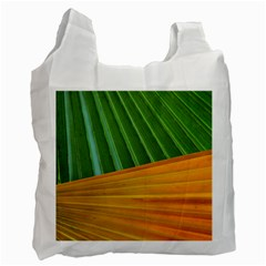 Pattern Colorful Palm Leaves Recycle Bag (one Side)