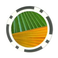 Pattern Colorful Palm Leaves Poker Chip Card Guard (10 Pack)