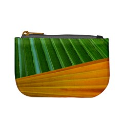 Pattern Colorful Palm Leaves Mini Coin Purses