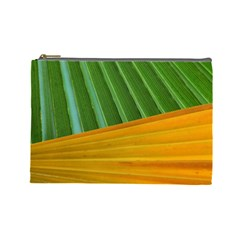 Pattern Colorful Palm Leaves Cosmetic Bag (large)