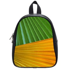 Pattern Colorful Palm Leaves School Bags (small)