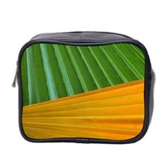 Pattern Colorful Palm Leaves Mini Toiletries Bag 2 Side
