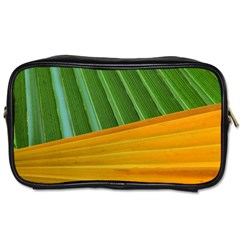 Pattern Colorful Palm Leaves Toiletries Bags 2 Side