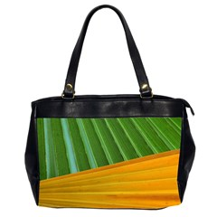 Pattern Colorful Palm Leaves Office Handbags (2 Sides)