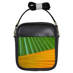 Pattern Colorful Palm Leaves Girls Sling Bags