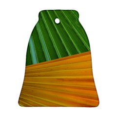 Pattern Colorful Palm Leaves Ornament (bell)