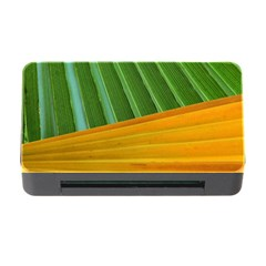 Pattern Colorful Palm Leaves Memory Card Reader With Cf