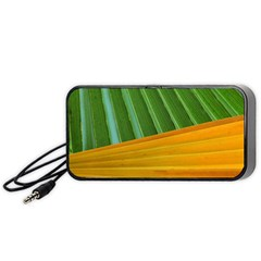 Pattern Colorful Palm Leaves Portable Speaker (black)