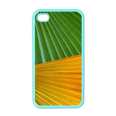Pattern Colorful Palm Leaves Apple Iphone 4 Case (color)