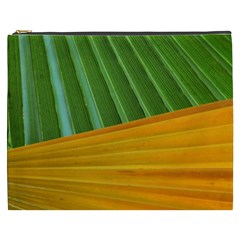 Pattern Colorful Palm Leaves Cosmetic Bag (xxxl)
