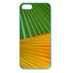 Pattern Colorful Palm Leaves Apple Seamless Iphone 5 Case (color)