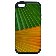 Pattern Colorful Palm Leaves Apple Iphone 5 Hardshell Case (pc+silicone)