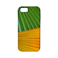 Pattern Colorful Palm Leaves Apple Iphone 5 Classic Hardshell Case (pc+silicone)