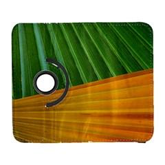 Pattern Colorful Palm Leaves Galaxy S3 (flip/folio)