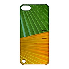 Pattern Colorful Palm Leaves Apple Ipod Touch 5 Hardshell Case With Stand