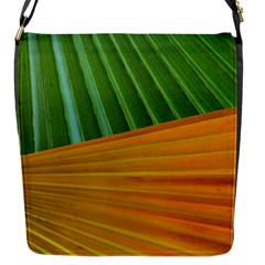 Pattern Colorful Palm Leaves Flap Messenger Bag (s)