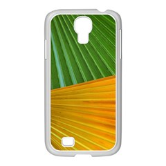 Pattern Colorful Palm Leaves Samsung Galaxy S4 I9500/ I9505 Case (white)