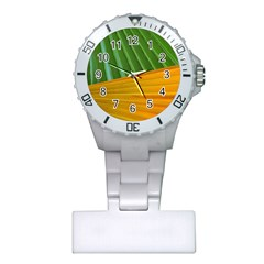 Pattern Colorful Palm Leaves Plastic Nurses Watch