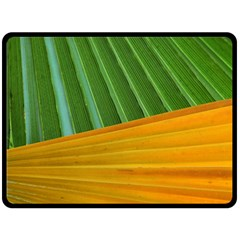 Pattern Colorful Palm Leaves Double Sided Fleece Blanket (large)
