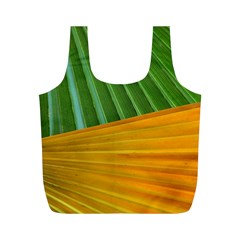 Pattern Colorful Palm Leaves Full Print Recycle Bags (m)