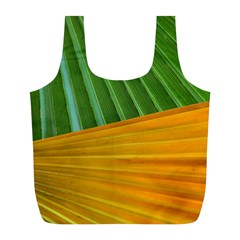 Pattern Colorful Palm Leaves Full Print Recycle Bags (l)