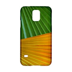 Pattern Colorful Palm Leaves Samsung Galaxy S5 Hardshell Case
