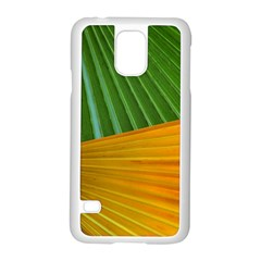 Pattern Colorful Palm Leaves Samsung Galaxy S5 Case (white)