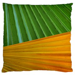Pattern Colorful Palm Leaves Large Flano Cushion Case (two Sides)