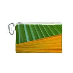 Pattern Colorful Palm Leaves Canvas Cosmetic Bag (s)