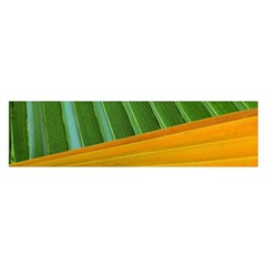 Pattern Colorful Palm Leaves Satin Scarf (Oblong)