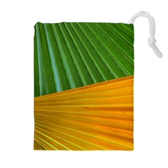 Pattern Colorful Palm Leaves Drawstring Pouches (extra Large)