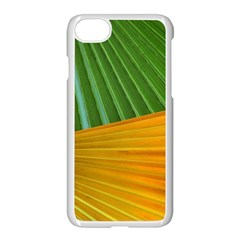 Pattern Colorful Palm Leaves Apple Iphone 7 Seamless Case (white)