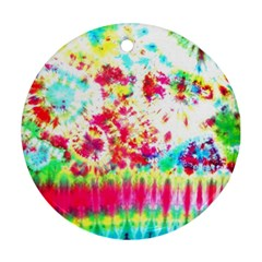 Pattern Decorated Schoolbus Tie Dye Ornament (round)
