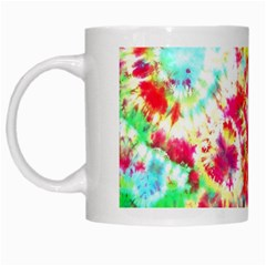 Pattern Decorated Schoolbus Tie Dye White Mugs